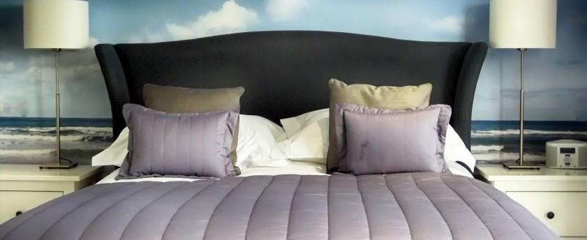 Designer hotel bedroom in Newquay